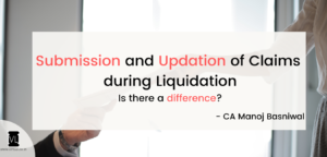 submission and updation of claims